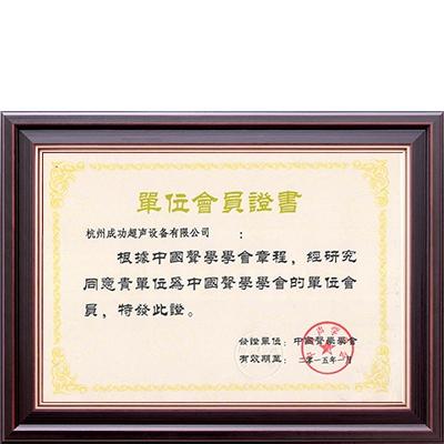 中国声学学会会员